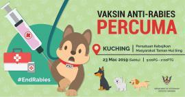 Kuching: Suntikan Vaksin Anti-Rabies Percuma