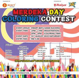 Merdeka Day Coloring Contest